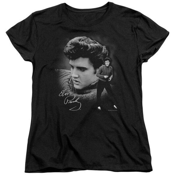 Elvis Presley Sweater Short Sleeve Womens Tee T-Shirt