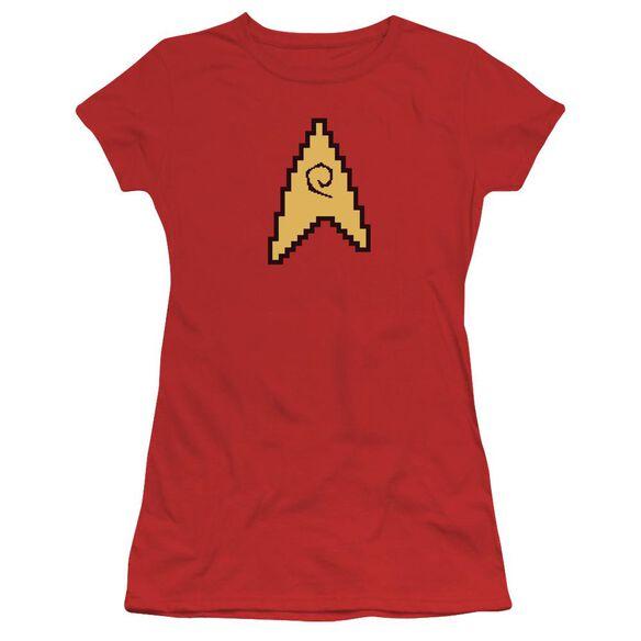 Star Trek 8 Bit Engineering Short Sleeve Junior Sheer T-Shirt