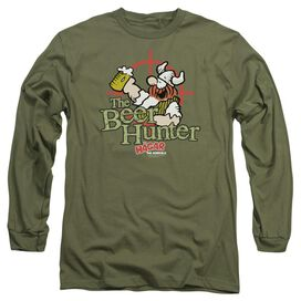 Hagar The Horrible Beer Hunter Long Sleeve Adult Military T-Shirt