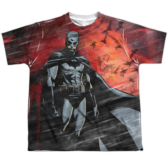 Batman Begins Frenzy Short Sleeve Youth Poly Crew T-Shirt