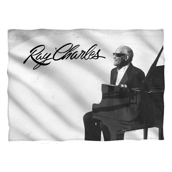 Ray Charles Sunny Ray Pillow Case White