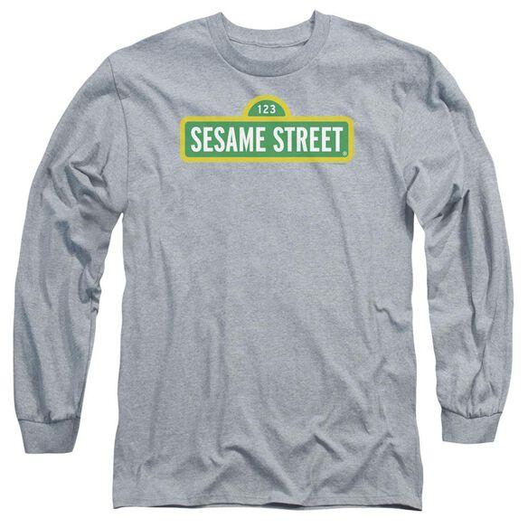 Sesame Street Logo Long Sleeve Adult Athletic T-Shirt