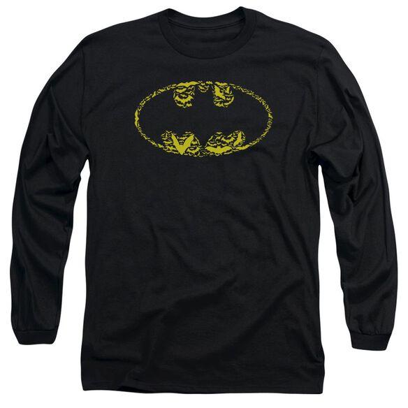 BATMAN BATS ON BATS - L/S ADULT 18/1 - BLACK T-Shirt