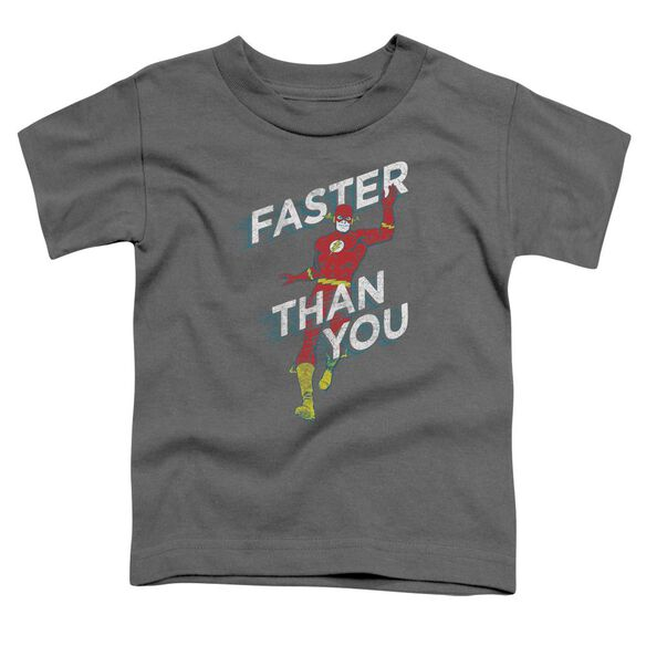 Dc Faster Than You Short Sleeve Toddler Tee Charcoal T-Shirt