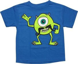 Monsters Inc Mike with Mustache Juvenile T-Shirt