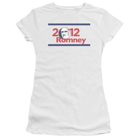 2012 Romney Short Sleeve Junior Sheer T-Shirt