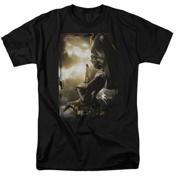 Power Rangers Yellow Zord Poster Short Sleeve Adult T-Shirt
