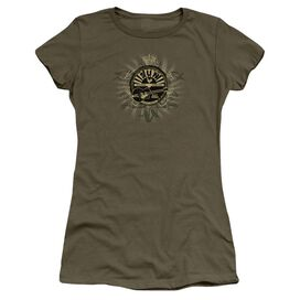 Sun Rock Heraldry Short Sleeve Junior Sheer Military T-Shirt