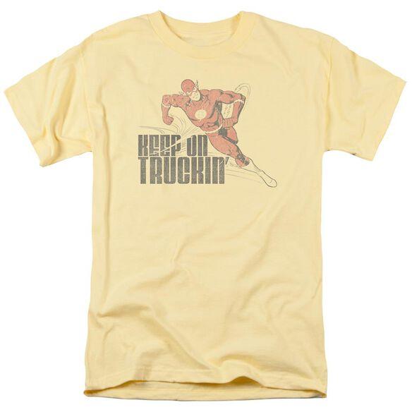 Dc Keep On Truckin Short Sleeve Adult Banana T-Shirt