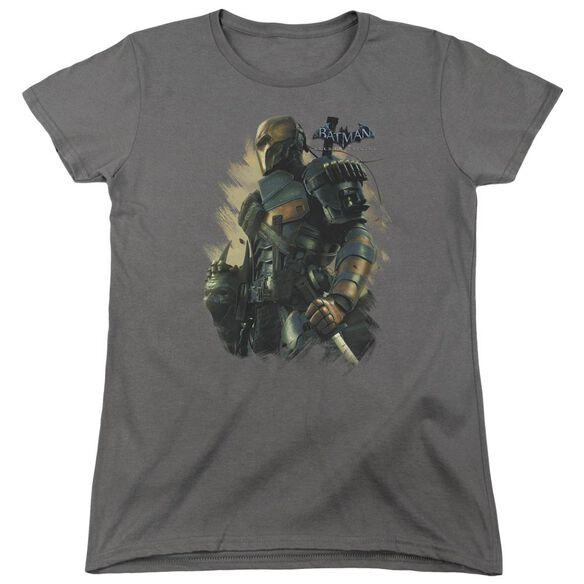 Batman Arkham Origins Deathstroke Short Sleeve Womens Tee T-Shirt