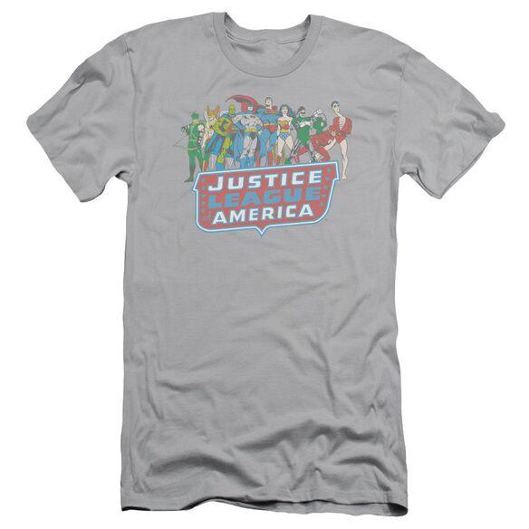 Dc Jla Lineup Short Sleeve Adult T-Shirt