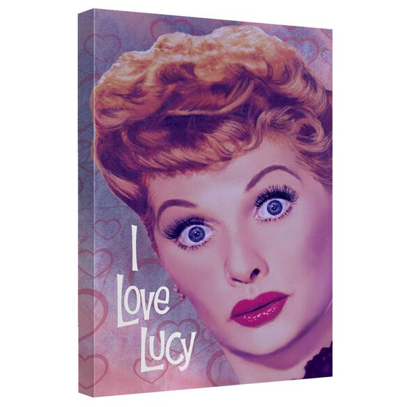 I Love Lucy Heart Portrait Quickpro Artwrap Back Board