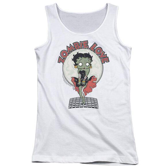 Betty Boop Breezy Zombie Love Juniors Tank Top