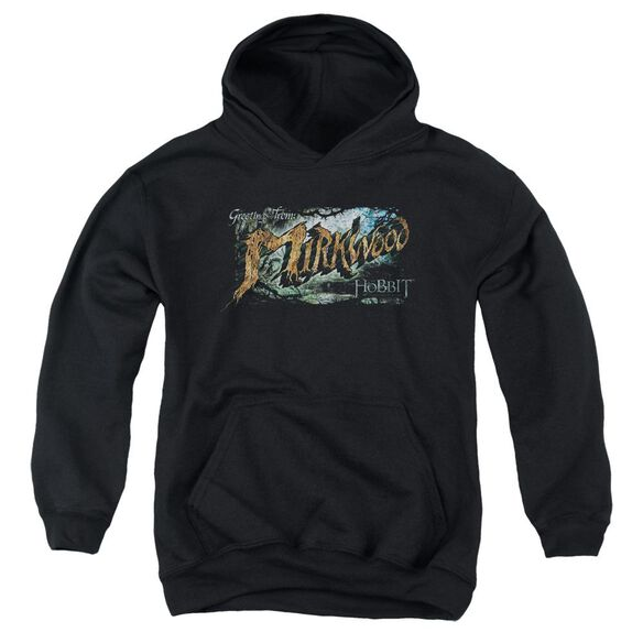 Hobbit Greetings From Mirkwood Youth Pull Over Hoodie