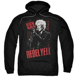 Billy Idol Brick Wall Adult Pull Over Hoodie