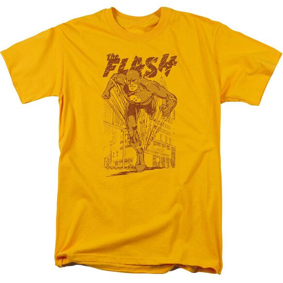 Dc Flash Busting Out Short Sleeve Adult T-Shirt
