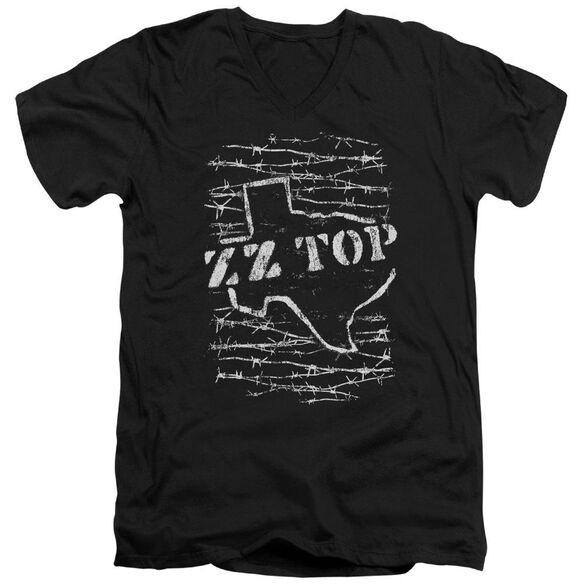 Zz Top Barbed Short Sleeve Adult V Neck T-Shirt