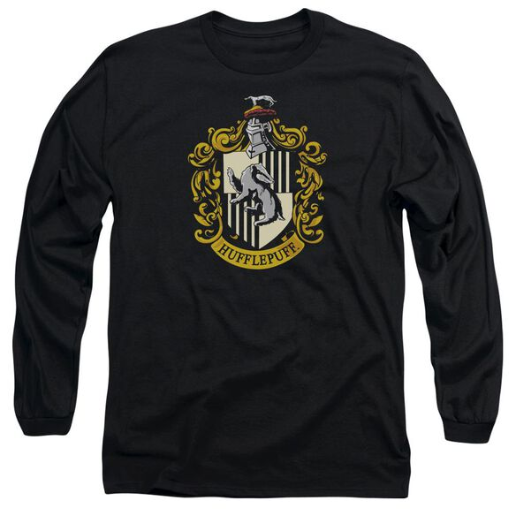 Harry Potter Hufflepuff Crest Long Sleeve Adult T-Shirt