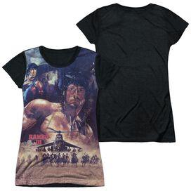 Rambo Iii No Mercy Short Sleeve Junior Poly Black Back T-Shirt