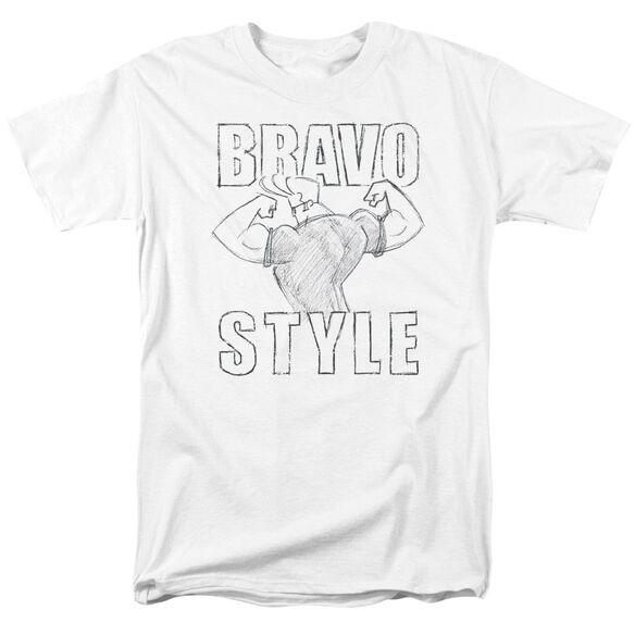 Johnny Bravo Bravo Style Short Sleeve Adult T-Shirt