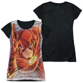 Jla Barrys Back Short Sleeve Junior Poly Black Back T-Shirt