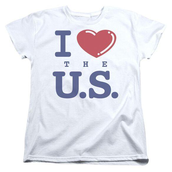 I Love The Us Short Sleeve Womens Tee T-Shirt