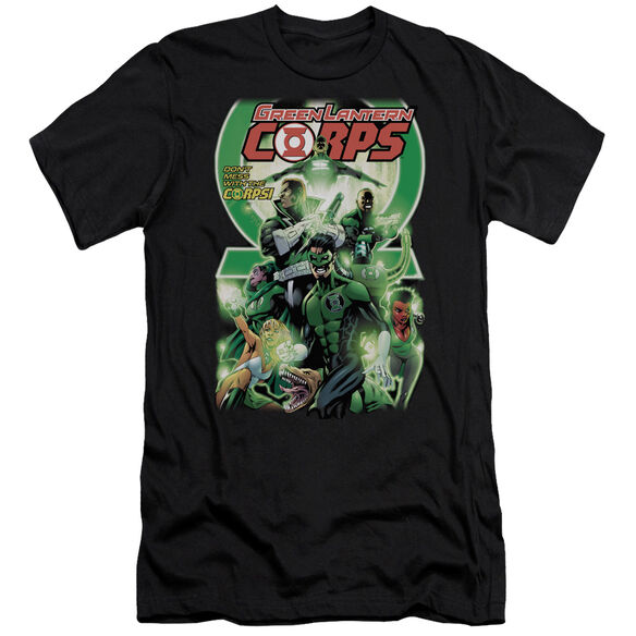 GREEN LANTERN GL CORPS #25 COVER - S/S ADULT 30/1 - BLACK T-Shirt