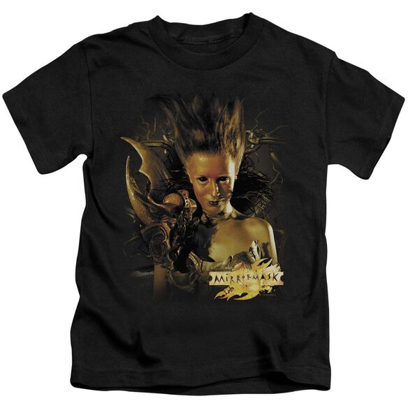Mirrormask Queen Of Shadows Short Sleeve Juvenile Black T-Shirt