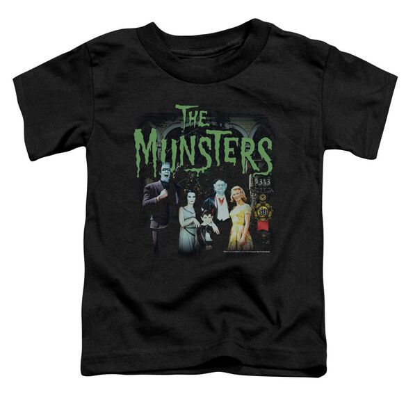 The Munsters 1313 50 Years Short Sleeve Toddler Tee Black T-Shirt