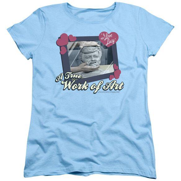 I Love Lucy Work Of Art Short Sleeve Womens Tee Light T-Shirt