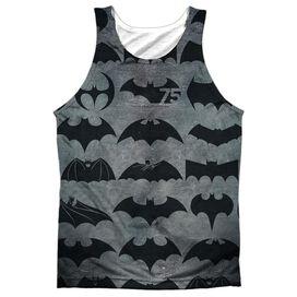 Batman 75 Symbols Adult 100% Poly Tank Top