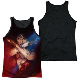 Wonder Woman Movie Arms Crossed Adult Poly Tank Top Black Back