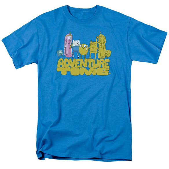 Adventure Time Jakes Friends Short Sleeve Adult Turquoise T-Shirt