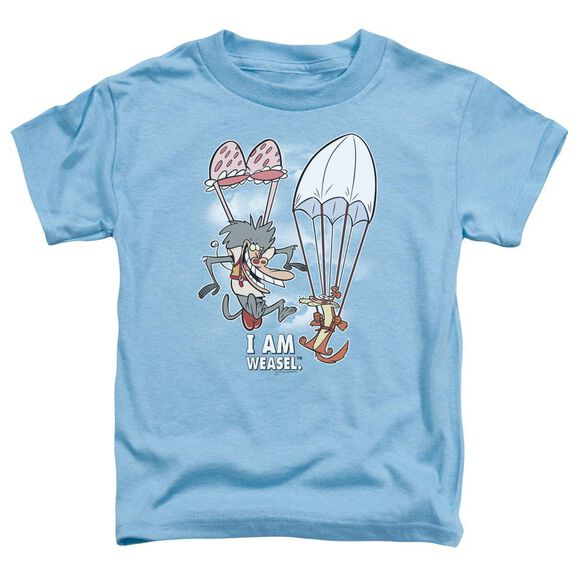 I Am Weasel Balloon Ride Short Sleeve Toddler Tee Carolina Blue Sm T-Shirt
