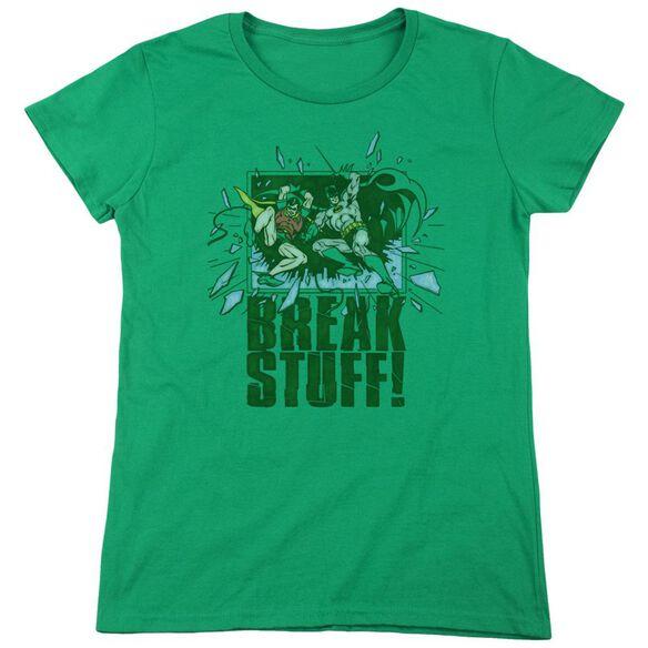 Dc Break Stuff Short Sleeve Womens Tee Kelly T-Shirt