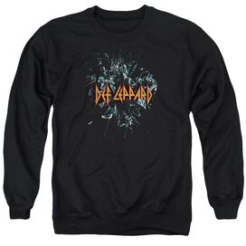 Def Leppard Broken Glass Adult Crewneck Sweatshirt