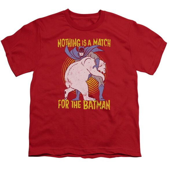 Batman Bear Wrastling Short Sleeve Youth T-Shirt