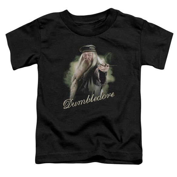Harry Potter Dumbledore Wand Short Sleeve Toddler Tee Black T-Shirt