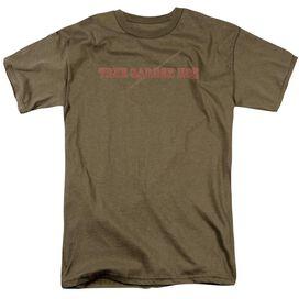 Garden True Garden Hoe Short Sleeve Adult Safari Green T-Shirt