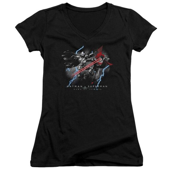 Batman V Superman Lightning V Heat Vision Junior V Neck T-Shirt