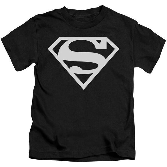 Superman Logo Short Sleeve Juvenile Black T-Shirt