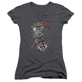 Snl Laser Cats Junior V Neck T-Shirt