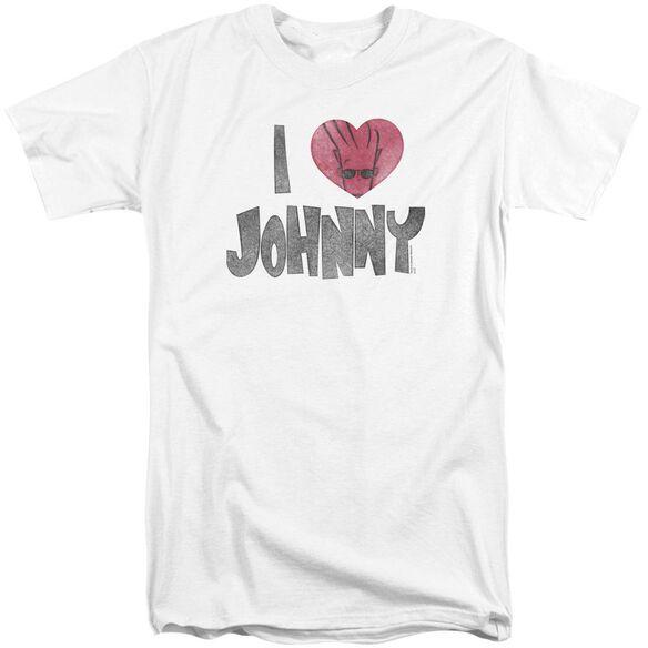 Johnny Bravo I Heart Johnny Short Sleeve Adult Tall T-Shirt