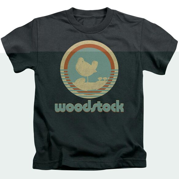 Woodstock Bird Circle Short Sleeve Juvenile Charcoal T-Shirt