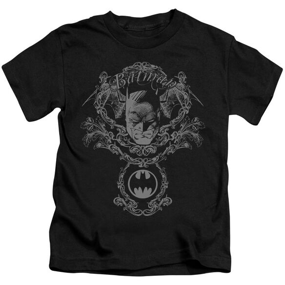 Batman Dark Knight Heraldry Short Sleeve Juvenile Black T-Shirt