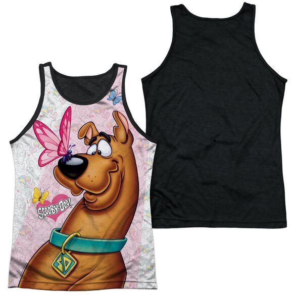 Scooby Doo Butterfly Adult Poly Tank Top Black Back