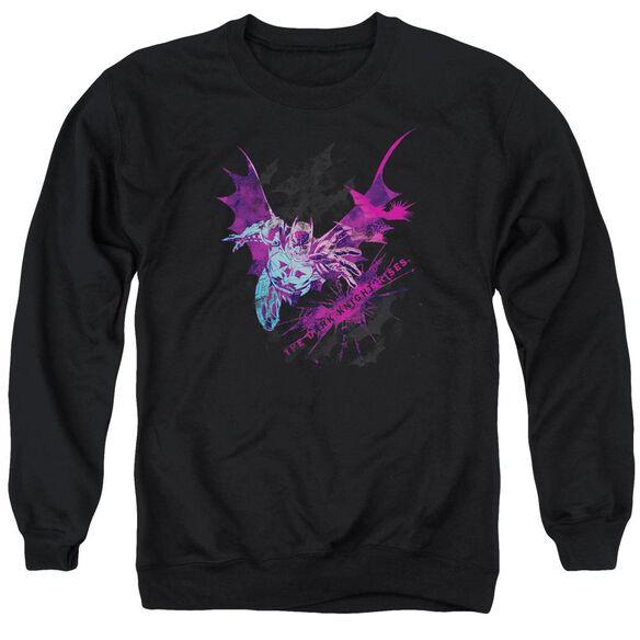 Dark Knight Rises Batarang Adult Crewneck Sweatshirt
