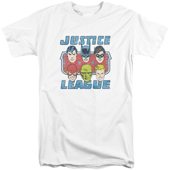 Dc Faces Of Justice Short Sleeve Adult Tall T-Shirt