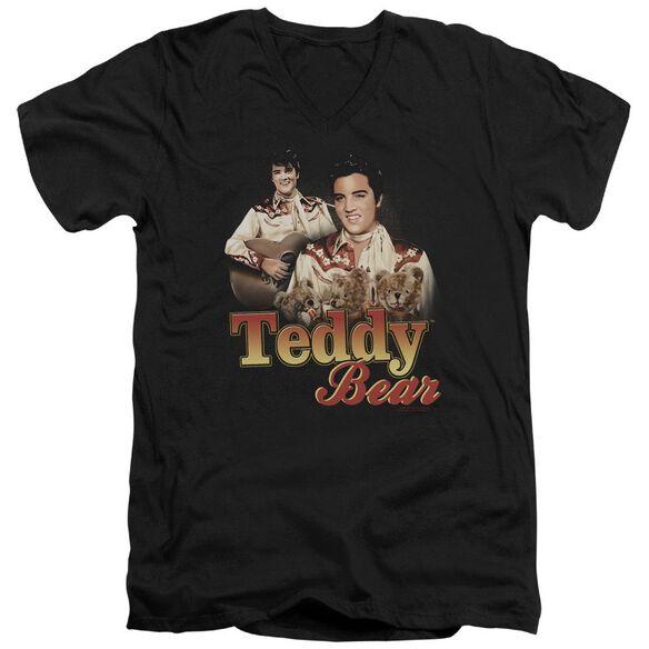Elvis Teddy Bear Short Sleeve Adult V Neck T-Shirt