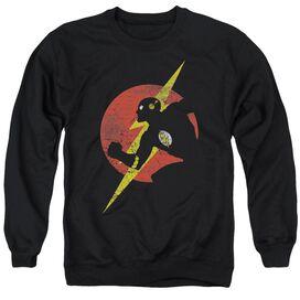 Jla Flash Symbol Knockout Adult Crewneck Sweatshirt